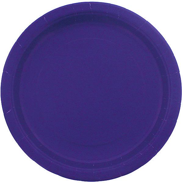 Purple Round Paper Plate 22cm
