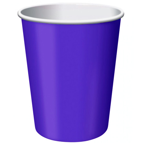 Purple Paper Cups 270ml - Pack of 14