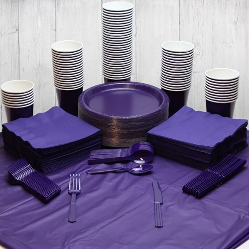 Purple 90 Person Party Pack