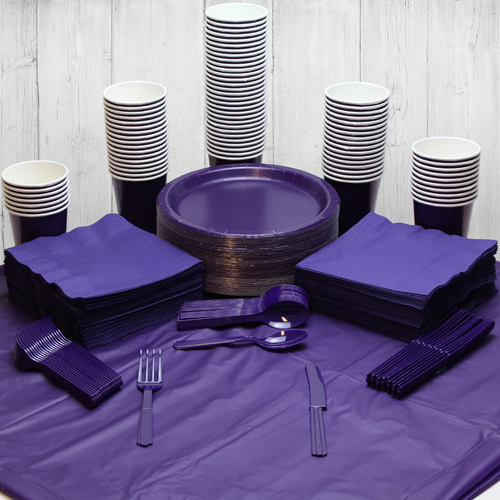 Purple 98 Person Party Pack