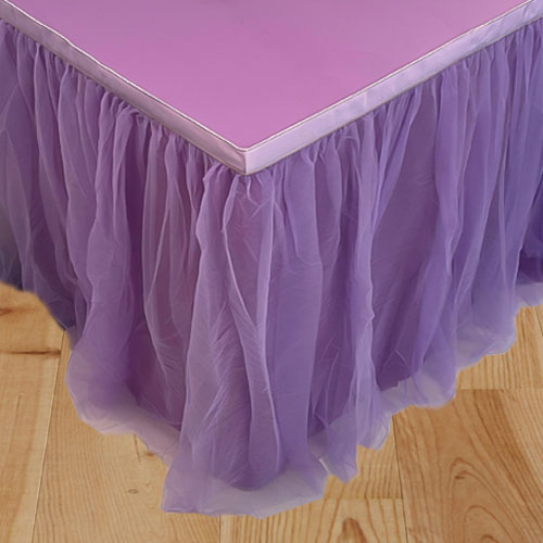 Purple Deluxe Tulle Table Skirt 180cm x 80cm Product Image