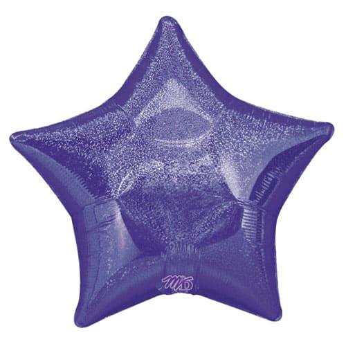 Purple Diamond Dazzler Star Shape Foil Helium Balloon 48cm / 19Inch
