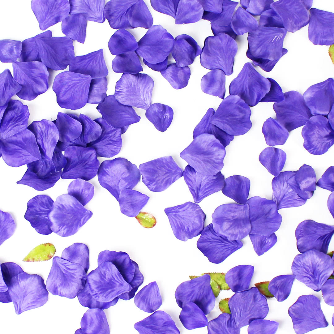 Purple Fabric Rose Petals
