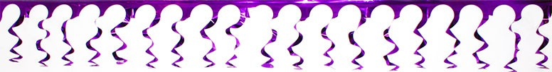 Purple Foil Spiral Garland - 18 Ft x 15 Inches / 549 x 38cm - Pack of 10 Product Image