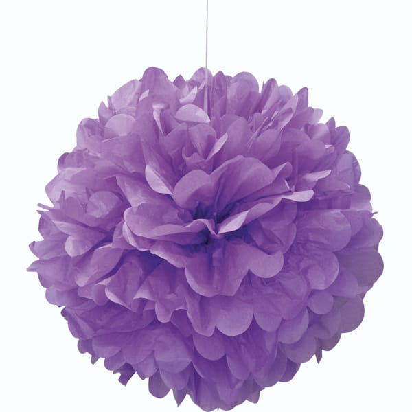 Purple Honeycomb Hanging Decoration Puff Ball 40cm Product Image