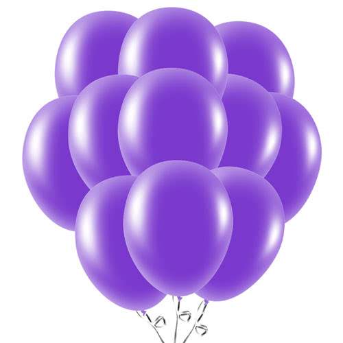 Purple Latex Balloons 23cm / 9Inch - Pack of 50 Product Image
