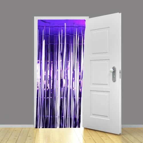 Purple Metallic Shimmer Curtain - 91 x 240cm - Pack of 5 Product Image