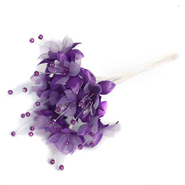 Purple Pearled Baby's Breath Fabric Flowers - Bunch of 12 Product Image