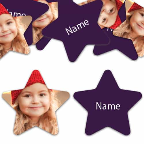 STAR Shape - Purple Personalised Confetti - Pack of 50 Product Image