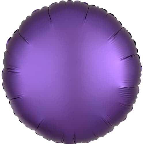 Purple Royale Satin Luxe Round Foil Helium Balloon 43cm / 17Inch