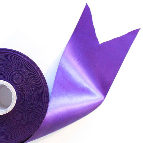 Purple Satin Faced Ribbon Reel 100mm x 50m Product Image