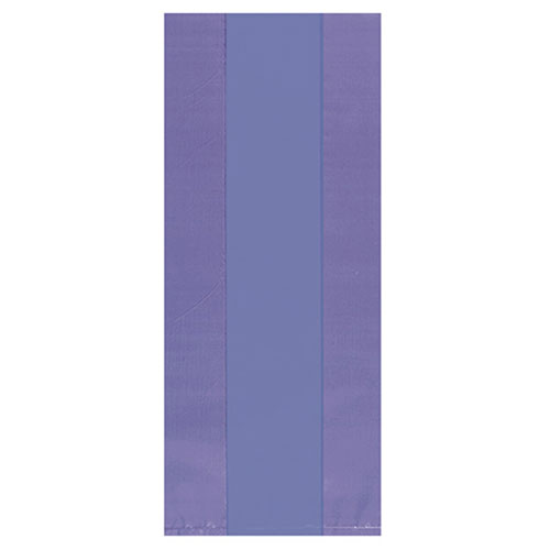 Purple Plastic Treat Bags with Twist Ties - Pack of 25 Product Image