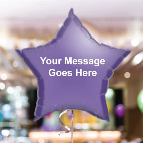 Personalised Purple Star Foil Balloon - Pack of 10