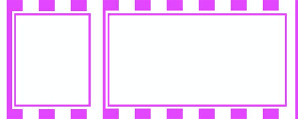 Purple Stripes Design Large Personalised Banner - 10ft x 4ft