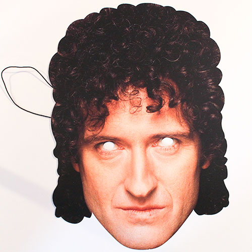 Queen Brian May Cardboard Face Mask