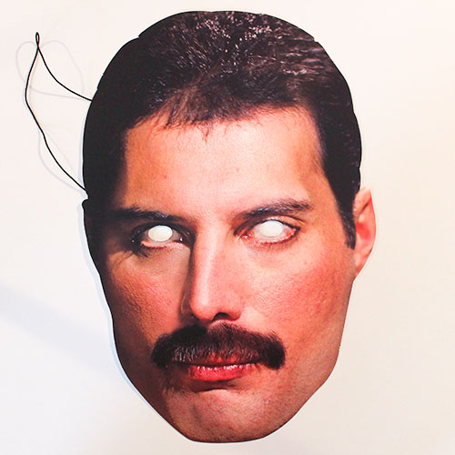 Queen Freddie Mercury Cardboard Face Mask