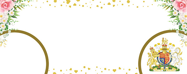 Queen's Birthday Gold Design Large Personalised Banner – 10ft x 4ft