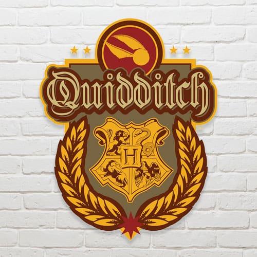 Harry Potter Wizarding World Quidditch Crest Wall Art Cutout 61cm