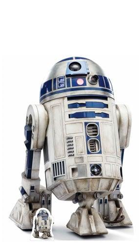 Star Wars The Last Jedi R2-D2 Lifesize Cardboard Cutout 97cm Product Image