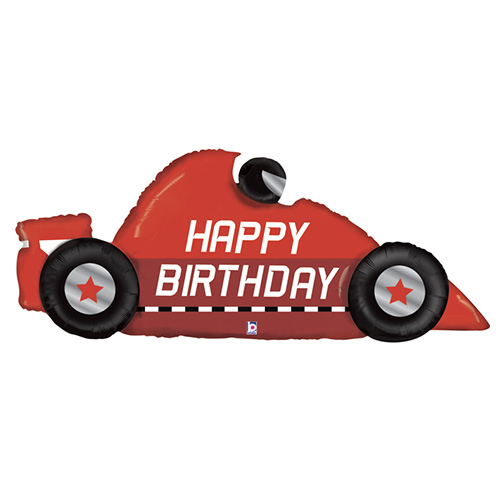 Race Car Birthday Helium Foil Giant Balloon 142cm / 56 in Product Image
