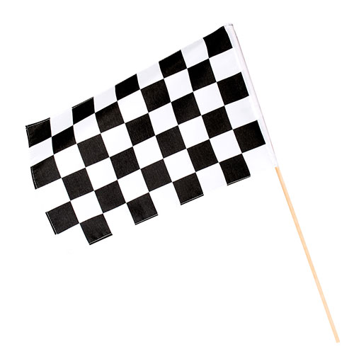 Racing Polyester Hand Flag 60cm Product Image