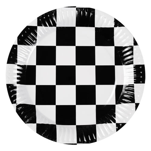 Racing Round Paper Plates 23cm - Pack of 6 Product Image