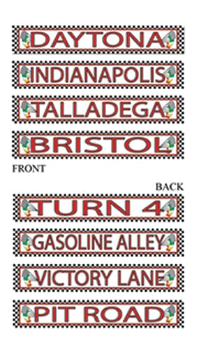 Racing Street Signs Decorative Cutouts - 24 Inches / 61cm - Pack of 4 Product Image