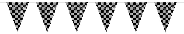 Racing Stripes Giant Triangle Flag Bunting - 6m