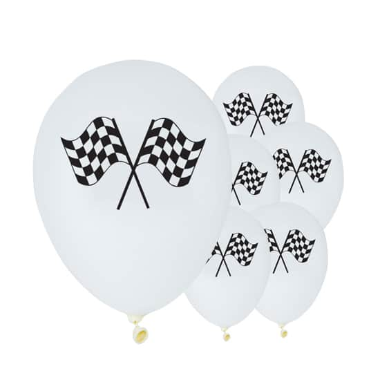 Racing Stripes Latex Balloons - 12 Inches / 30cm - Pack of 6
