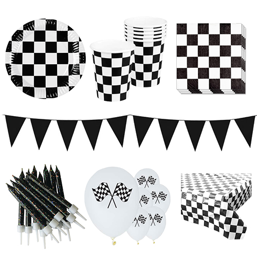 Racing Theme 6 Person Deluxe Party Pack Product Image