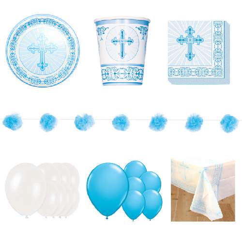 Radiant Cross Blue 16 Person Deluxe Party Pack