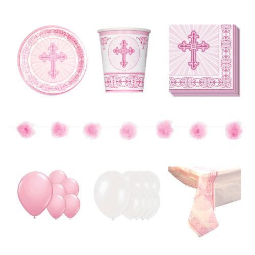 Radiant Cross Pink 16 Person Deluxe Party Pack