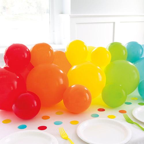Rainbow DIY Garland Balloon Arch Kit With Confetti