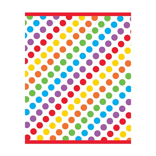 Rainbow Dots Plastic Loot Bags - Pack of 8 Product Image