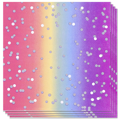 Rainbow Ombre Luncheon Napkins 33cm 3Ply - Pack of 16