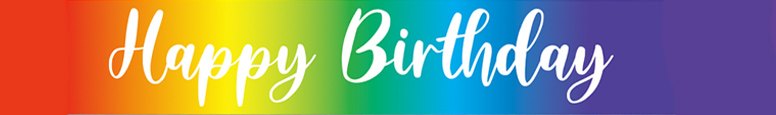 Rainbow Script Happy Birthday Foil Banner 2.7m