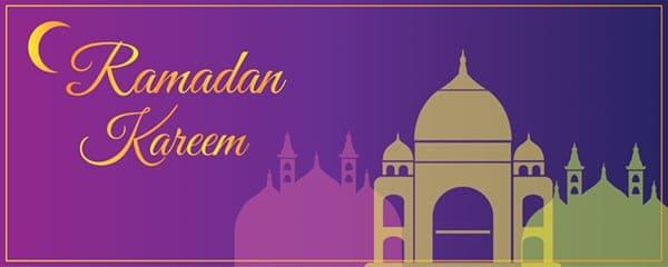 Ramadan Kareem Crescent Design Small Personalised Banner - 4ft x 2ft