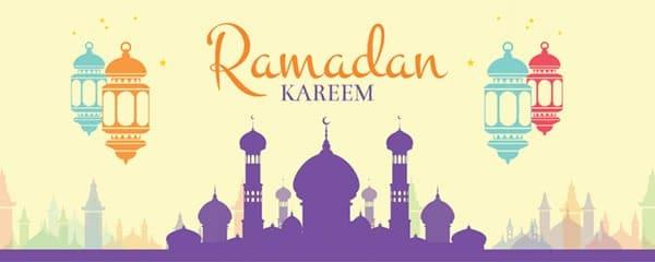 Ramadan Kareem Temple Design Medium Personalised Banner - 6ft x 2.25ft