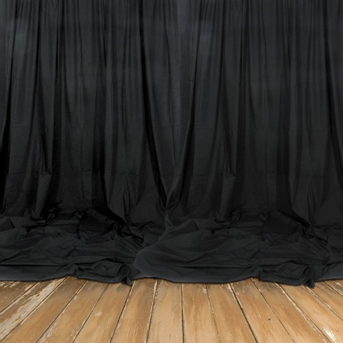 Real Black Backdrop - Decomolton 160gsm - 3m Drop - Sold by the Meter