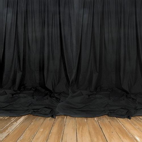 Real Heavy Duty Black Backdrop - Decomolton 300gsm - 3m Drop - Sold by the Meter