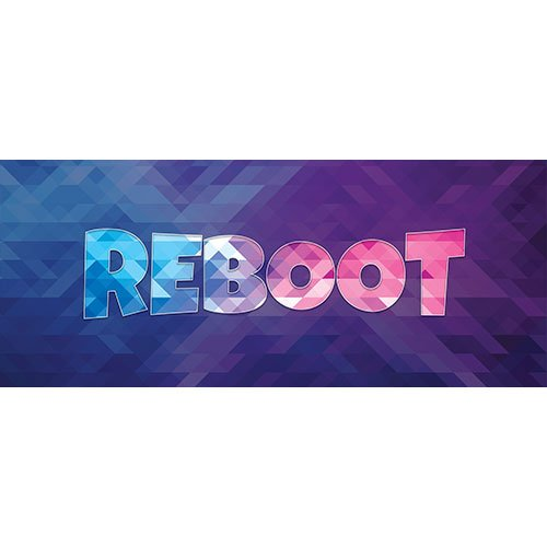 Reboot Home Screen Background PVC Party Sign Decoration 60cm x 25cm Product Image