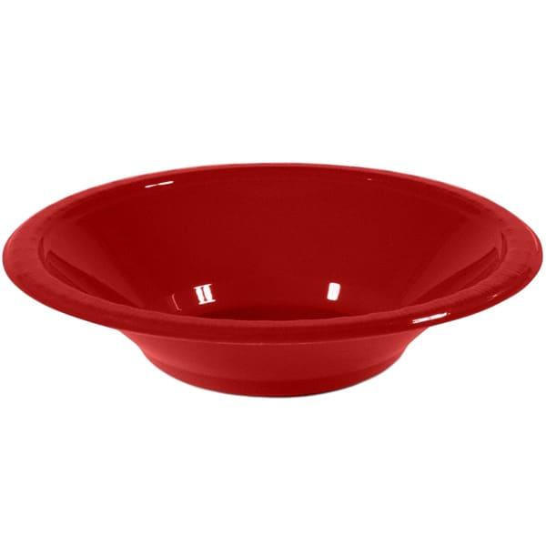 Red Plastic Bowls 17cm - Pack of 20