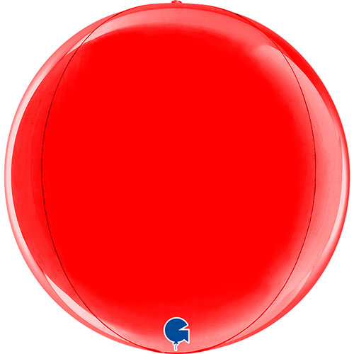 Red 4D Globe Foil Helium Balloon 29cm / 11 in Product Image