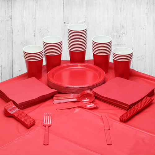 Red 56 Person Party Pack Product Image