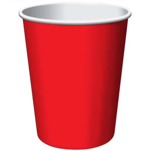 Red Paper Cups 270ml - Pack of 14