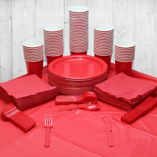 Red 98 Person Party Pack Product Image