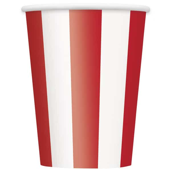 Red and White Stripes Paper Cup 355ml