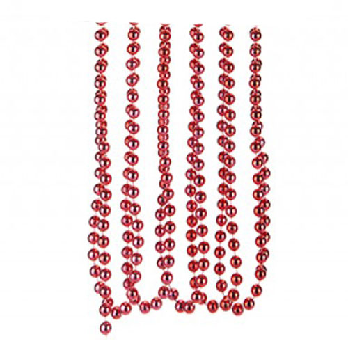 Red Bead Chain Christmas Decoration 2.7m Product Image