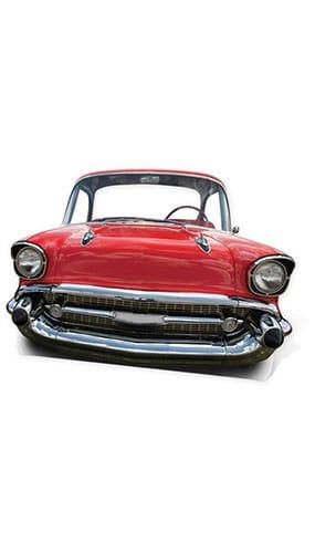 Red Cadillac Car Child Size Lifesize Cardboard Cutout - 105cm Product Image