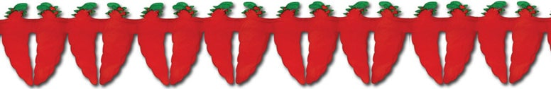 Red Chilli Pepper Garland - 12 Ft / 366cm